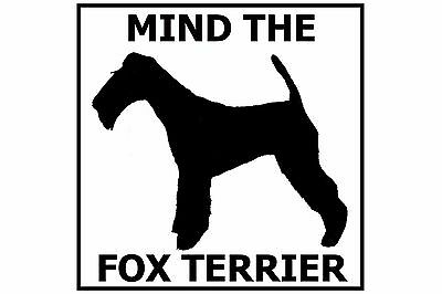 Mind the Fox Terrier - Gate/Door Ceramic Tile Sign