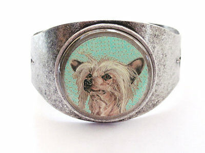 Chinese Crested Hairless Art Cuff Bracelet