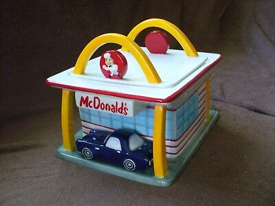 2004 McDonald's classic restaurant cookie jar with vintage car - RARE