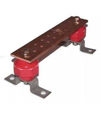 """Wall Mounted Copper Ground Bus Bar Kit- Thickness .25"""" Width 2"""" Length 12"""" (New)"""