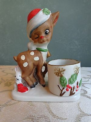 "Jasco - ""Little Reindeer"" - Candle Holder - Porcelain - 1978"