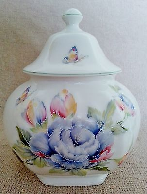 Aynsley Celeste Covered Jar~Floral