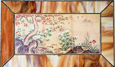 Japanese Screen FLOWERS & BIRDS Ashikaga Period by Genga (Early 16thC)