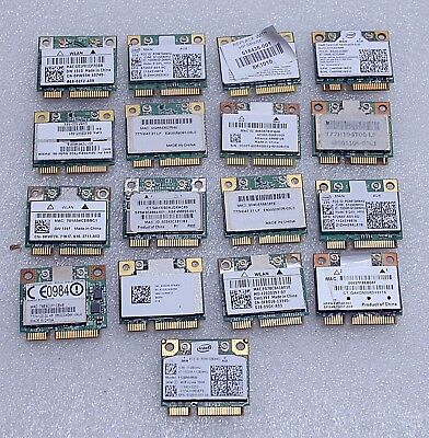Lot Of 17 Assorted Mini Pci Wifi Cards For  Laptop