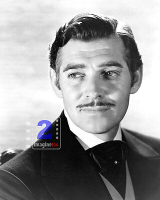 """Clark Gable - Gone with the Wind 8""""x 10"""" B&W PHOTO REPRINT"""