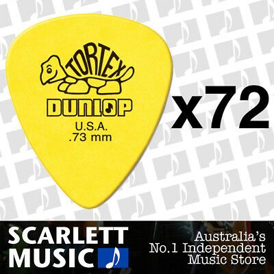 72 x Jim Dunlop Standard Tortex .73mm Yellow Picks Plectrums .73 *72 PICKS*
