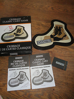 Cribbage Board - Dakota Boots- Unused