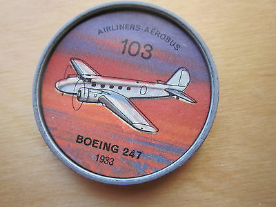 Canadian JELLO, HOSTESS COINS (1960) Aviation Planes Airliners # 103 Boeing 247