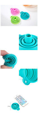 Sale TIAC Silicone Gel Practical Collapsible Foldable Funnel Hopper Kitchen^Tool