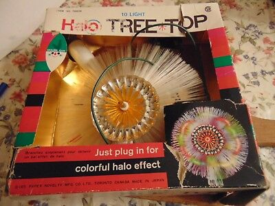Illuminated Halo Christmas Tree Topper Vintage With Box Works.