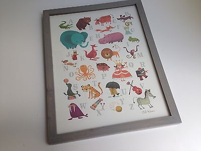 BRAND NEW! Hallmark Framed Alphabet Wall Art w/Glass Rustic Baby 8BBY4422