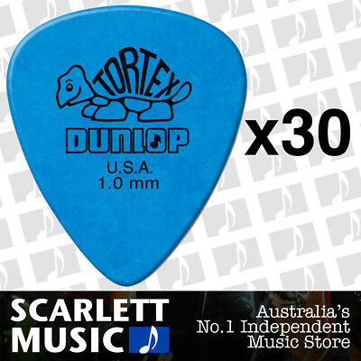 30 x Jim Dunlop Standard Tortex 1.00mm Blue Picks Plectrums 1.00 *THIRTY PICKS*
