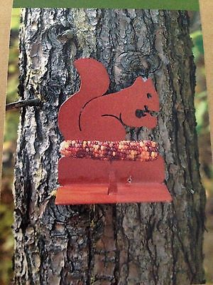Metal Mounted Squirrel Feeder Tree Decoration NEW IN BOX