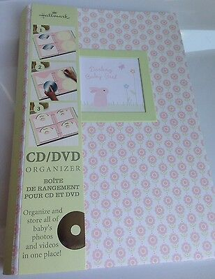 BRAND NEW! Hallmark Baby Girl CD/DVD Organizer Book, Shower Gift, Keepsake Album
