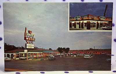 Vintage '60s Tucumcari New Mexico Golden W Motel Route 66 Postcard Uncle Joe's