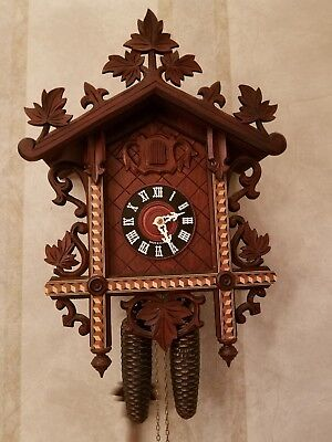 Schlagabschaltung Railroad Black Forest Cuckoo Clock Excellent Working cond