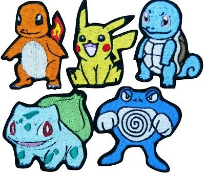 Pokemon Go Games Embroidery Iron On Patches Jeans Badge Pikachu Jacket  Applique