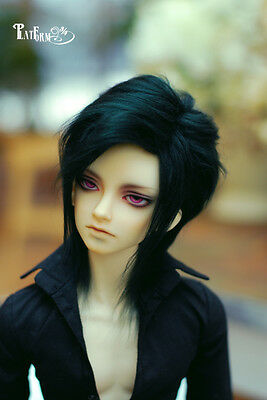 Black  Fur Wig BJD Doll Wig 6-7'' 7-8'' 8-9''  Free Style  Uncle HH5