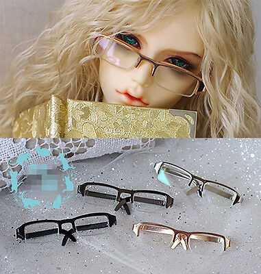 3colors Semi-rimmed Square Glasses For 1/3 SD17,Uncle BJD Doll Accessories GS5