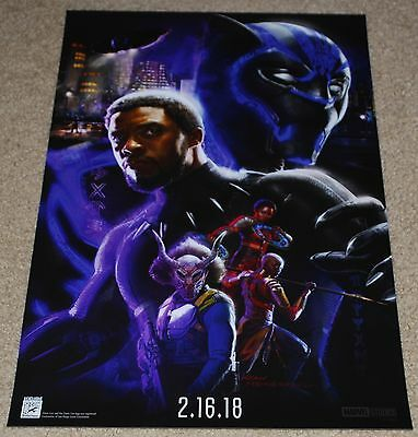"SDCC 2017 EXCLUSIVE MARVEL BLACK PANTHER POSTER 13"" x 20"