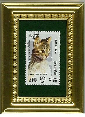 Sophisticated Portrait Of A Focused Cat - A Collectible Postage Masterpiece!