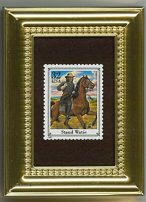 Stand Watie A Collectible Glass Framed Postage Masterpiece Gift