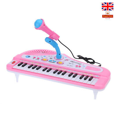 37 Keys Piano Electone Mini Electronic Keyboard Musical Toy with Microphone