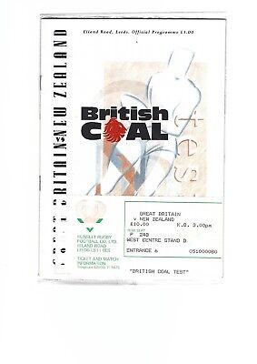 GREAT BRITAIN v NEW ZEALAND 2nd TEST at Elland Rd Leeds 1989 Ticket + programme