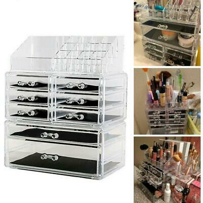 BEAUTY MAKEUP Cosmetics Clear Jewelry Organizer Acrylic Display Box