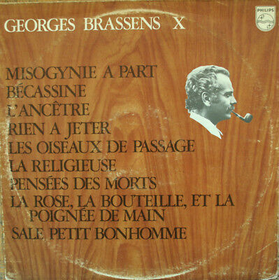 Georges Brassens-X LP-Philips, 849.490 BY, 9 Track