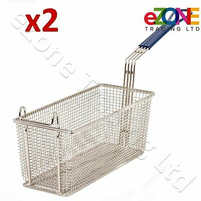2X BLUE SEAL Heavy Duty Chip Fish Fat Frying Deep Fryer Basket