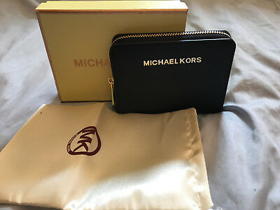 Michael Kors Black Mini Wallet Purse - For Notes, Coins & Cards