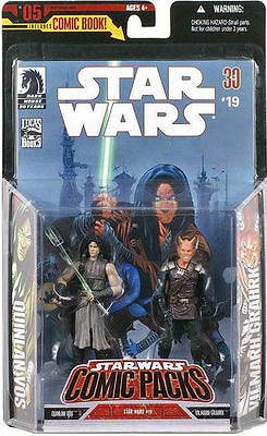 Quinlan Vos + Vilmarh Grahrk Star Wars Comic Packs Action Figures + Comic #19