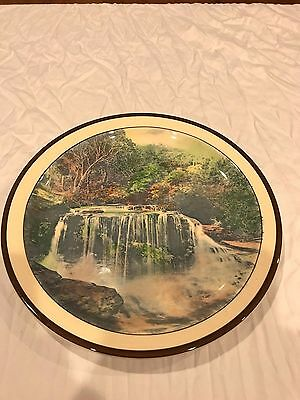 royal doulton plate the weeping rock blue mount