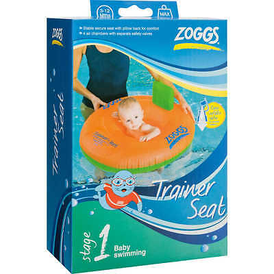 ZOGGS BABY SWIMMING TRAINER TRAINING SEAT: 3 - 12 MONTHS (11kg) / 12 - 18 (15kg)