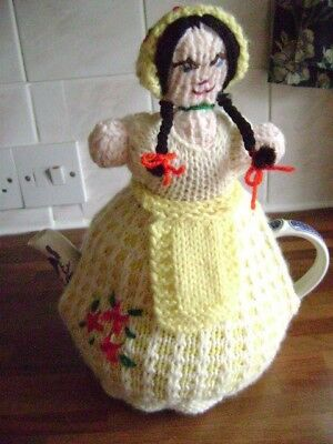 New Hand Knitted Crinoline Lady Tea Cosy  Large Size