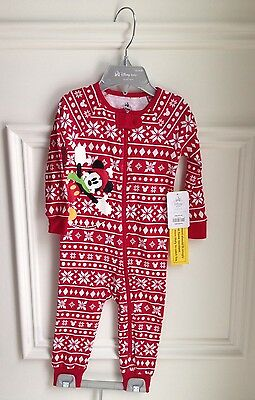 Infant Baby 12-18 Months Sleeper Pyjama Mickey Mouse Winter Design Disney Store