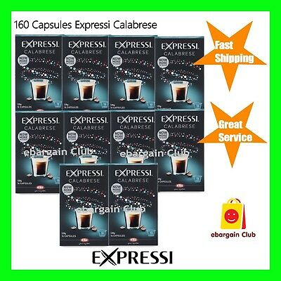 160 Capsules Expressi Coffee Pods Calabrese Value Pack (10 boxes)  ALDI eBC