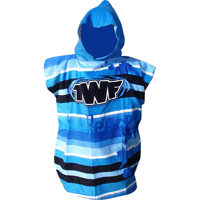 Childs & Adults Hooded Beach Changing Robe Beach Poncho Towel Swimming Surf