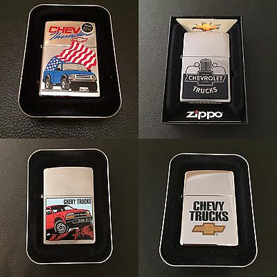 Lot Of Four ZIPPO Chevy Lighters New In Box