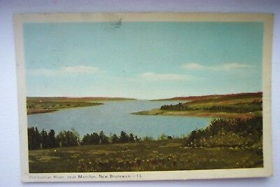 Vintage Postcard Petitcodiac River Moncton New Brunswick Canada 1949 Collectible