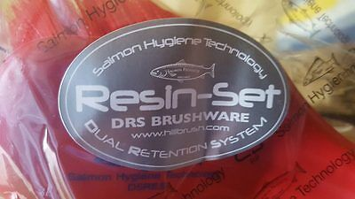 Salmon Resin Set Short Handled Red Hand Brush D5Rres. Catering Production Line
