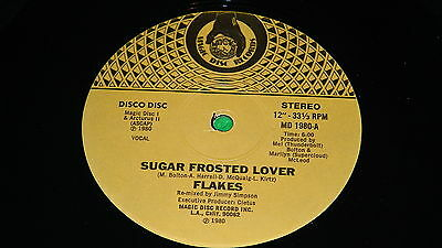 "FLAKES : Sugar frosted lover - Original 1980 US issue 12"" single EX/NM"