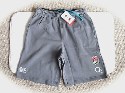 S M L 3XL ENGLAND RUGBY GREY FLEECE SHORTS New Canterbury New Zealand