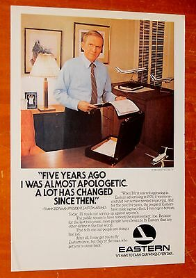1981 Eastern Airlines Ad With President & Model Planes + B52 Bomber / Singer Ad