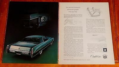 Beautiful 1972 Cadillac Coupe De Ville 13 X 22 Inch Ad - American 70S Luxury