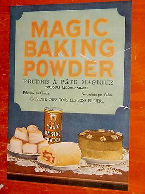 French 1930 Magic Baking Powder Canadian Ad - Vintage 1930S Retro Francais