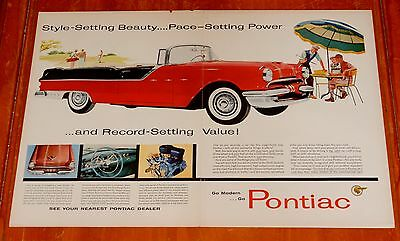 Cool 1955 Pontiac Star Chief Convertible Large Ad - Vintage 50S American Retro