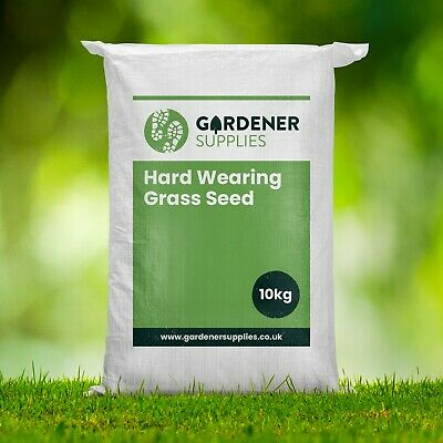 10kg HARD-WEARING BACK LAWN TOUGH LAWN GRASS SEED PLAY AREAS CHILDREN CERTIFIED