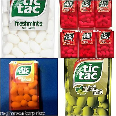 (Combo of 12) TIC TAC Flavor-10.2gm /0.35 Oz Each  Ferreo Free shipping